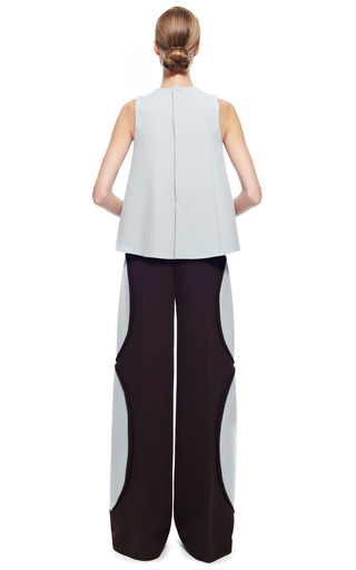 Bi Color Wide Leg Pant by DELPOZO for Preorder on Moda Operandi