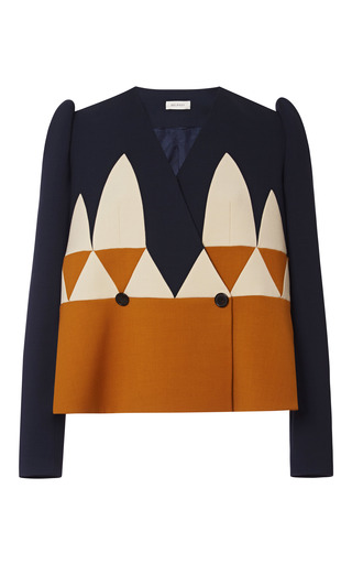 Medium delpozo multi a line jacket with collage