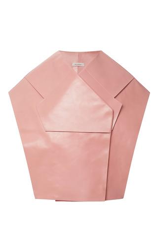 Medium delpozo pink leather waist coat