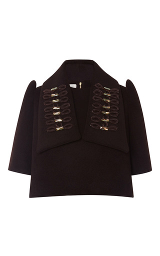 Medium delpozo brown top with embroidered stole