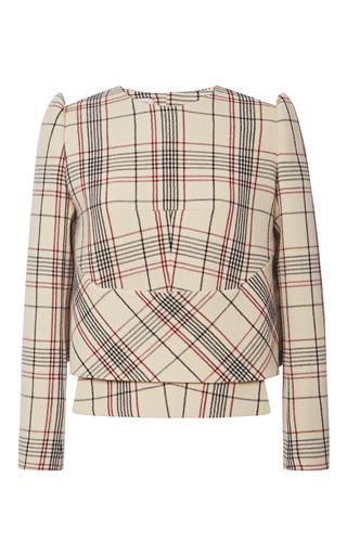 Medium delpozo print long sleeved over shirt