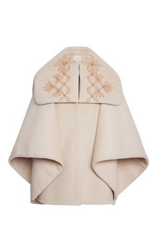 Medium delpozo white cape coat with sailor neck