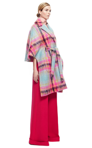 Cape Coat With Waist Belt by DELPOZO for Preorder on Moda Operandi