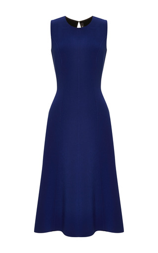 Medium thakoon blue seamed cut out dress