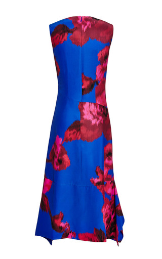 Printed Floral Silk Scarf Hem Dress by THAKOON for Preorder on Moda Operandi