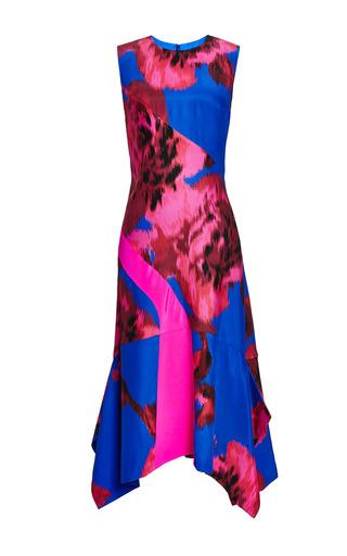 Medium thakoon pink printed floral silk scarf hem dress