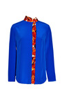 Tie Neck Top With Printed Inset by THAKOON for Preorder on Moda Operandi