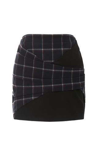 Medium thakoon addition navy plaid ponti skirt
