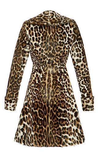 Leopard Goat Coat by PETER SOM for Preorder on Moda Operandi