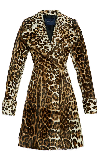 Medium peter som print leopard goat coat