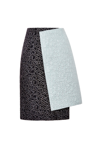 Memphis Lurex Jacquard Double Breasted Skirt by CALLA for Preorder on Moda Operandi