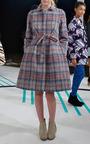 Fuzzy Plaid Dress Coat by CALLA for Preorder on Moda Operandi