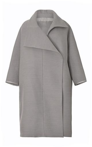 Medium tome dark grey grey double felt coat