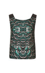 Green Butterfly Jacquard Apron Top by TOME for Preorder on Moda Operandi
