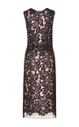 Black Lace Dress With And Pink Silk Lame Lining by TOME for Preorder on Moda Operandi