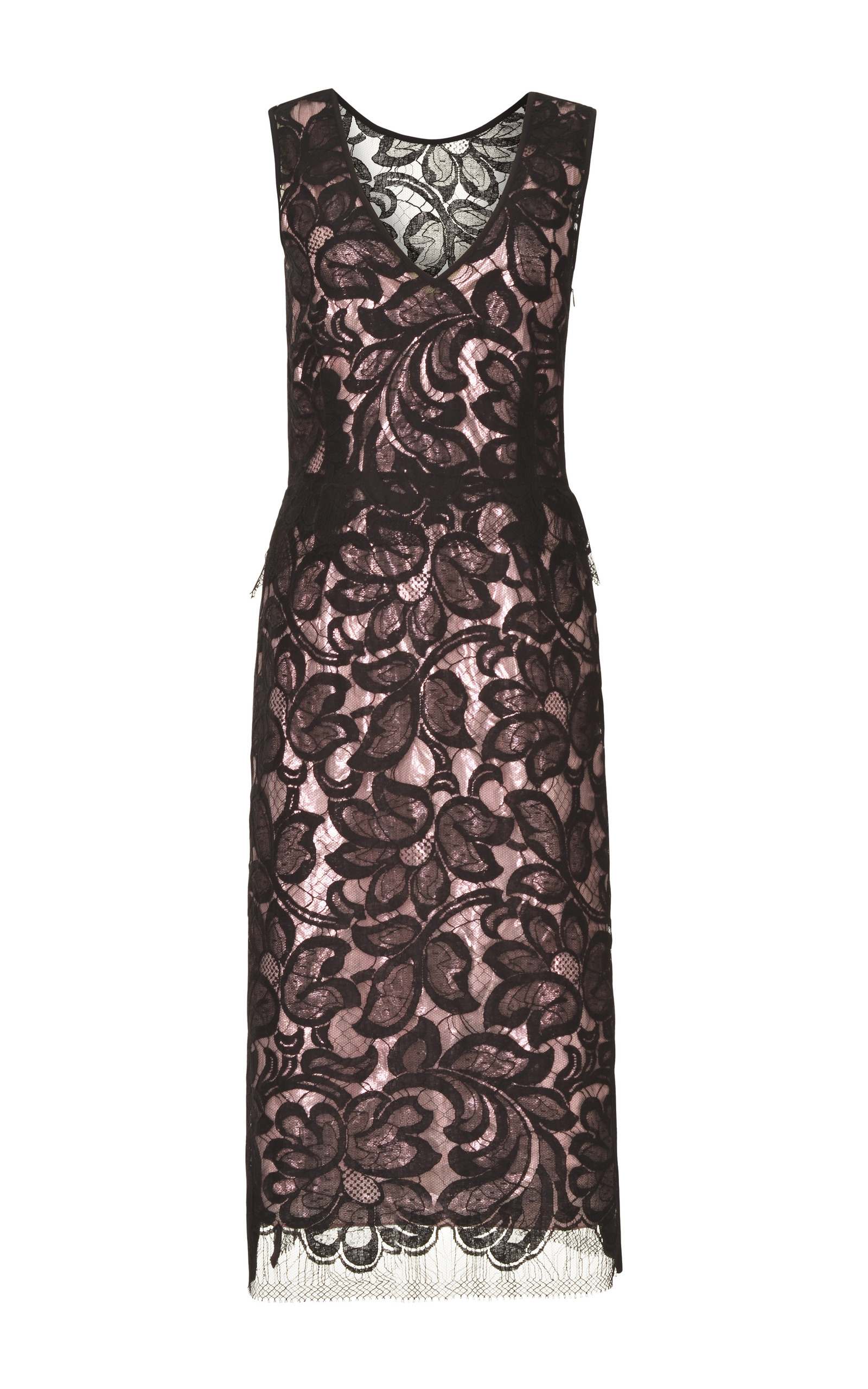 91d7bdb471e1 TomeBlack Lace Dress With And Pink Silk Lame Lining. CLOSE. Loading