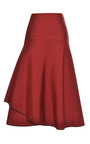 Red Silk Faille Layered Skirt by TOME for Preorder on Moda Operandi