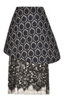 Navy Baroque Brocade Peplum And Black Lace Skirt by TOME for Preorder on Moda Operandi
