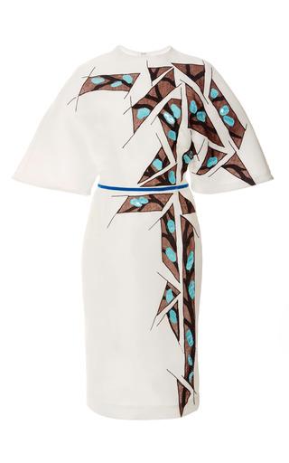 Medium carolina herrera brown silk gazaar dress