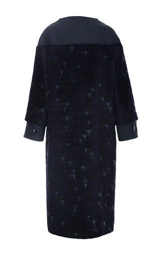 Long Haired Wool Coating Coat by CAROLINA HERRERA for Preorder on Moda Operandi