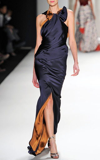 Double Face Charmeuse Gown by CAROLINA HERRERA for Preorder on Moda Operandi