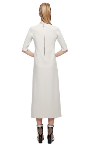 Bone Solid Stretch Wool Scoop Neck Dress by MARC JACOBS for Preorder on Moda Operandi