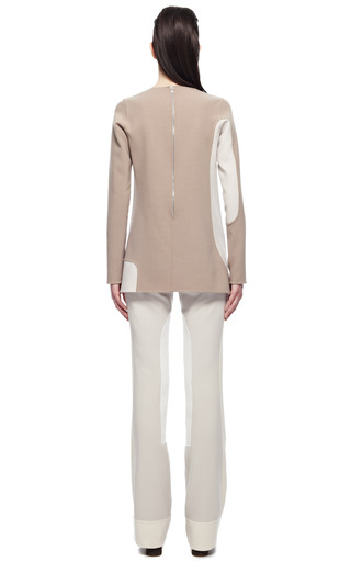 Camel Color Blocked Stretch Wool Mini Dress by MARC JACOBS for Preorder on Moda Operandi