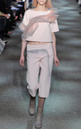 Rose Wool Crepe Top With Ruffle Detail by MARC JACOBS for Preorder on Moda Operandi