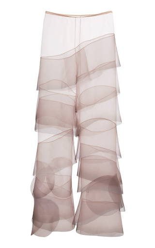 Medium marc jacobs pink crinkle organza flared ruffle pants