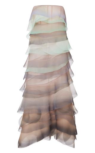 Medium marc jacobs light green crinkle organza strapless dress