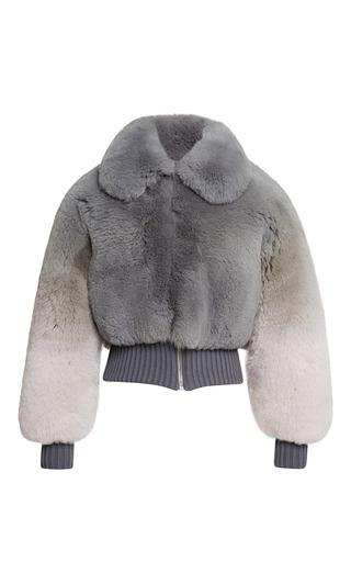Medium marc jacobs dark grey grey degrade fox cropped bomber jacket