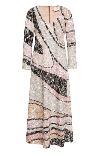 Sequin Wave Embroidered Scoop Neck Dress by MARC JACOBS for Preorder on Moda Operandi