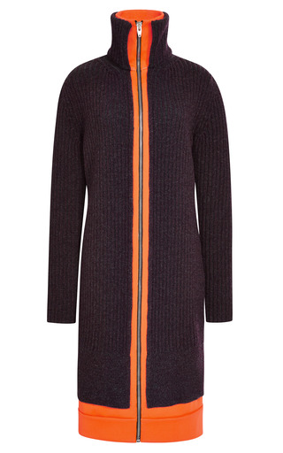 Fitted Zip Track Dress With Contrast Hem by ALEXANDER WANG for Preorder on Moda Operandi