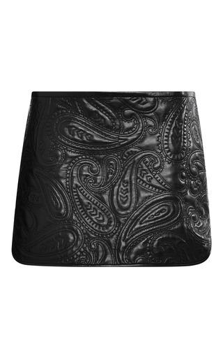 Medium alexander wang black paisley quilted liner skirt 2