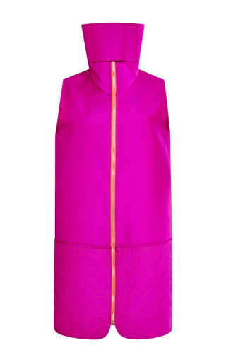 Medium alexander wang pink sleeveless dress with gusset and quilted skirt 2