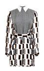 Printed Silk Twill Shirtdress by KENZO Now Available on Moda Operandi