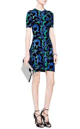 Printed Wool Jersey Knit Dress by KENZO Now Available on Moda Operandi