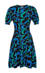 Printed Wool Jersey Knit Dress by KENZO Now Available on Moda Operandi