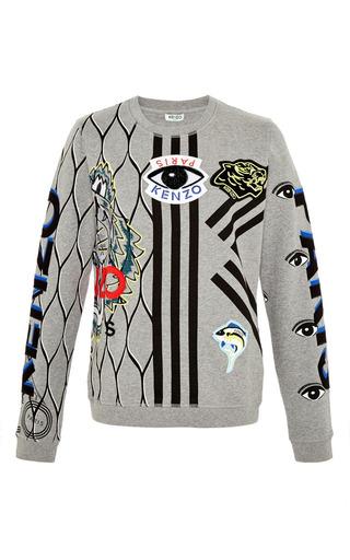 Medium kenzo dark grey tiger eye sweater