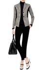 Rib Knit Inset Jacquard Blazer by KENZO Now Available on Moda Operandi