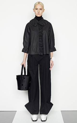 Ruffled Paper Leather Top by J.W. ANDERSON Now Available on Moda Operandi