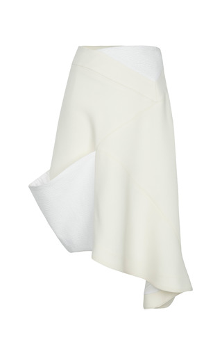 Medium j w anderson ivory wrap skirt with cuff 2
