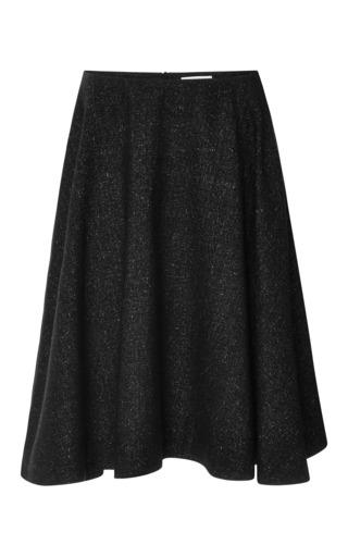 Medium j w anderson black speckled wool a line skirt