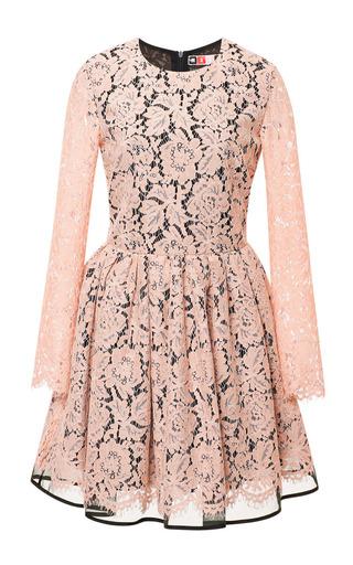 Medium msgm pink long sleeve lace dress