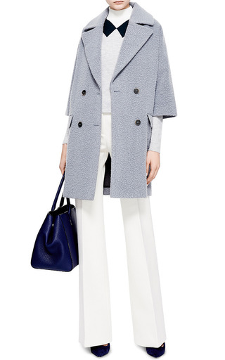Textured Wool Blend Coat by MSGM Now Available on Moda Operandi