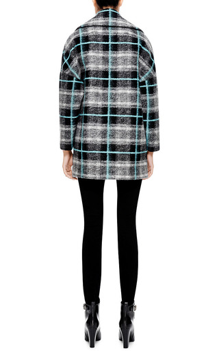 Felted Wool Plaid Coat by MSGM Now Available on Moda Operandi