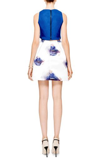 Printed Duchesse Satin Mini Skirt by MSGM Now Available on Moda Operandi