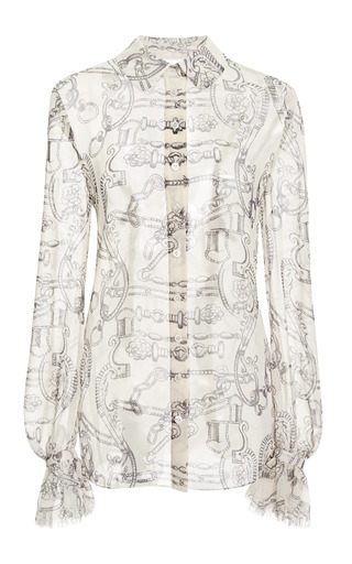 Medium tory burch print sherry shirt
