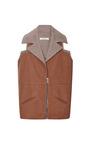 Caramel Doubleface Wool Sleeveless Jacket by RODARTE for Preorder on Moda Operandi