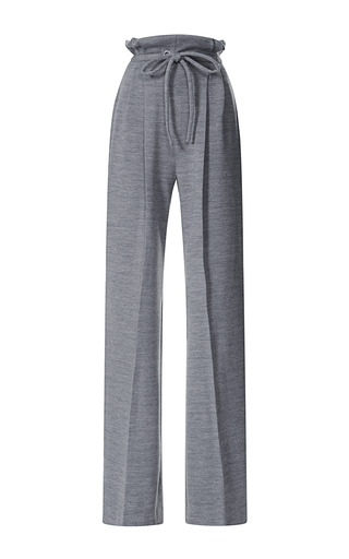 Medium rodarte dark grey grey wool jersey drawstring pants